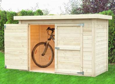 abri velo ou moto au jardin des
