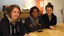 Floriane (à gauche), Mélanie (au centre) et Marion, trois Stéphanoises à l'origine du projet Vrac en Vert