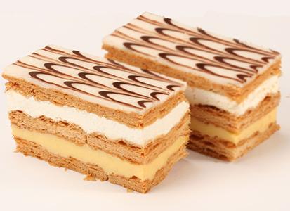 Mille-feuille crème fouettée et crème pâtissière
