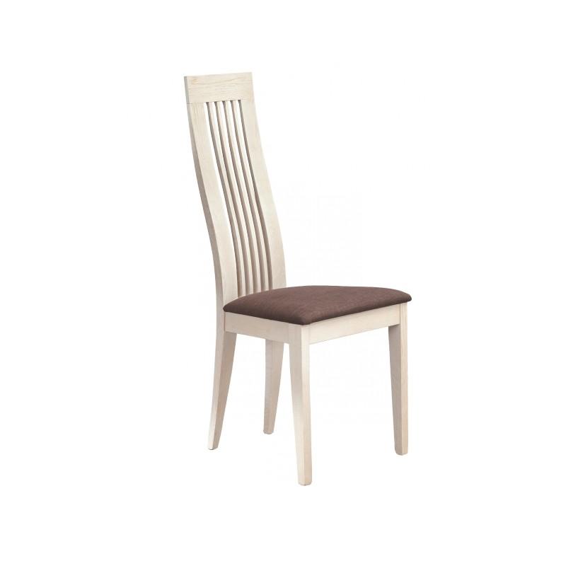 chaise chene massif blanchi