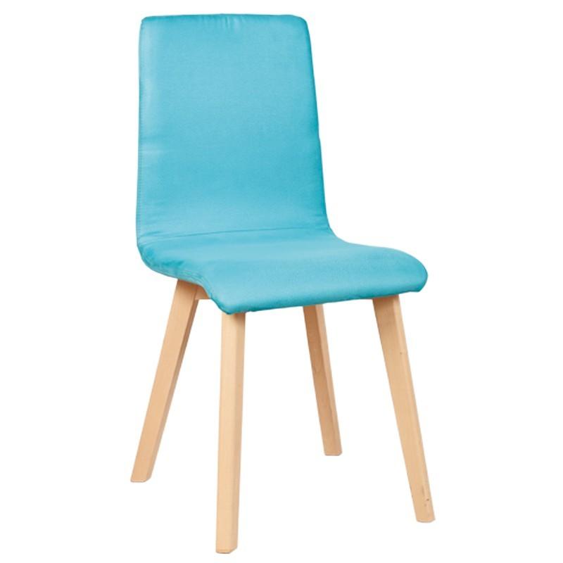 destockage chaise turquoise en microfibre pour la cuisine ou la salle a manger