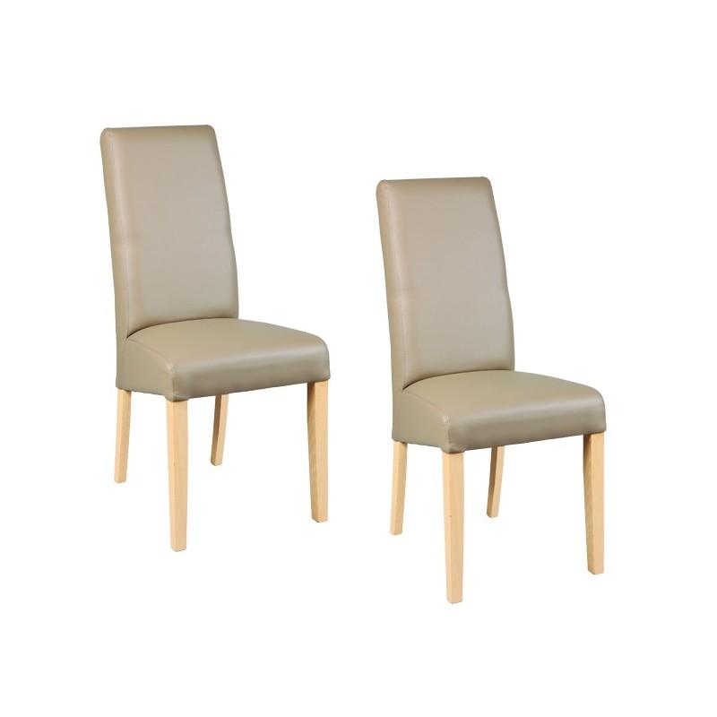 chaise simili cuir de couleur taupe pour salle a manger au meilleur prix remise