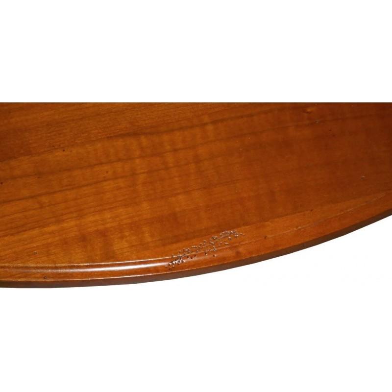 meubles bois massif merisier console demi lune louis philippe meuble cintre arrondi