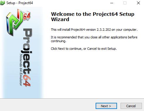 Programme d'installation Pj64