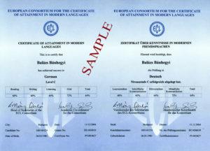 Certificat ECL