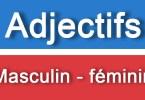 Adjectifs masculin féminin