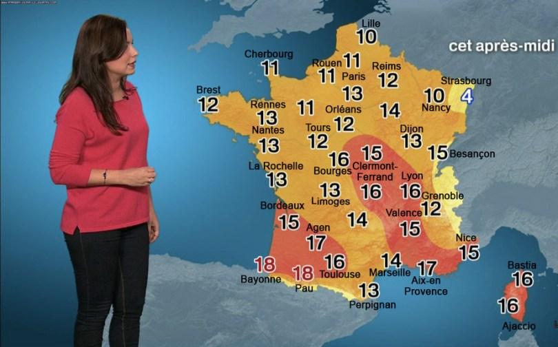 Carte 3 - températures
