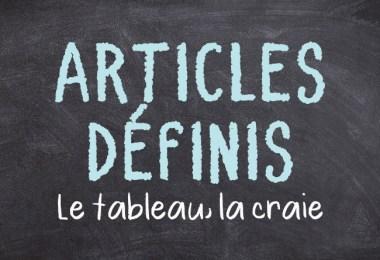 Articles définis