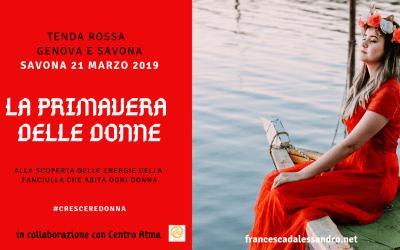 """Tenda Rossa Savona """"La primavera delle donne"""" – 21 marzo"""