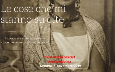"""Tenda Rossa Genova """"Le cose che mi stanno strette"""" – 7 novembre 2019"""