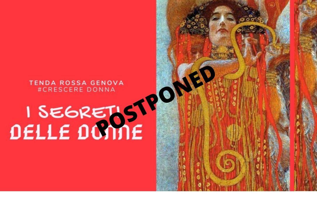 "Tenda Rossa Genova ""I segreti delle donne"" 25 marzo 2020"