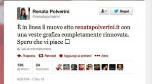 Tweet Renata Polverini