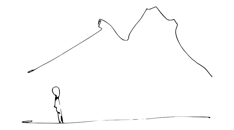 Mira in alto e fai tutto è nelle tue possibilità per migliorare te stesso