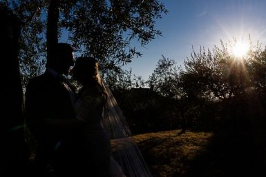 Gli sposi silouette photogrphy | Matrimonio a Cortona intimate wedding in Tuscany