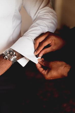wearing the cuff-links | Villa la palagina resort