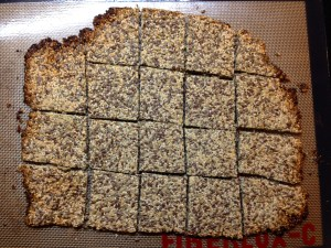 Wholegrain biscuit as it comes out of the oven.