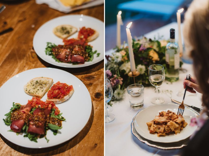 Romantic Italian elopement in Tuscany Photo / Tuscan food