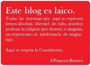 Francesc Romeu, blog laico