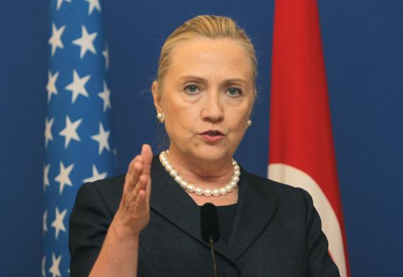 Hillary Clinton lors d'une conférence de presse à Istanbul (Turquie), le 11 août 2012.