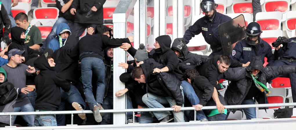 Des affrontements entre supporters stéphanois et niçois avaient marqué le match Nice-Saint-Etienne, le 24 novembre 2013, à Nice (Alpes-Maritimes).
