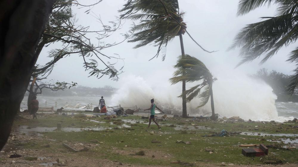 La capitale du Vanuatu, Port Vila, frappée par le cyclone Pam le 14 mars 2015.