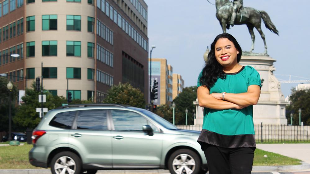Raffi Freedman-Gurspan prend la pose à Washington (Etats-Unis), dans une photo fournie par leCentre national pour l'égalité des droits des transsexuels.
