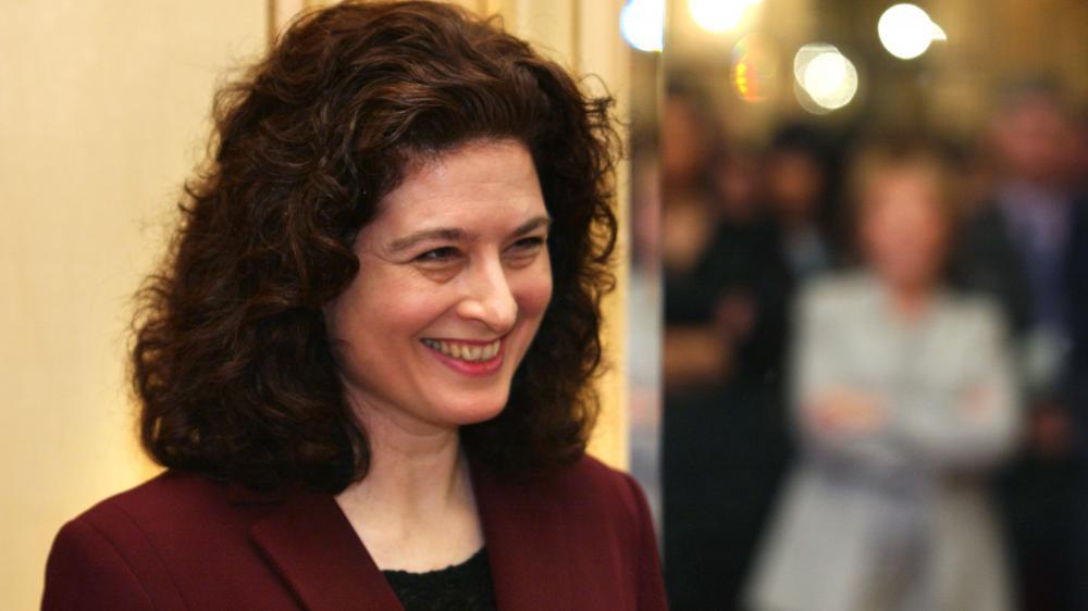 La journaliste Ursula Gauthier, lors de la remise des prix Louis Hachette, à Paris, le 6 février 2003.