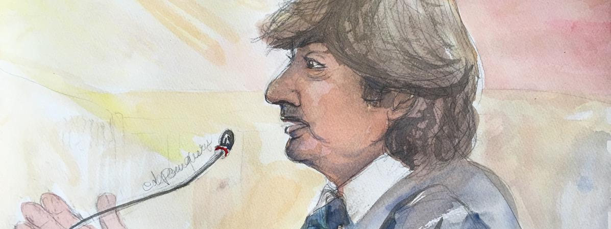 Michel Neyret devant le tribunal correctionnel de Paris, le 2 mai 2016.