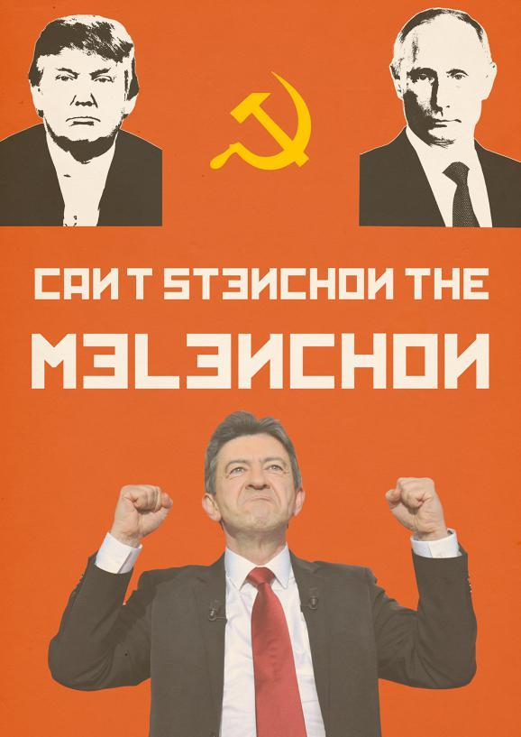 Photomontage satirique de Jean-Luc Mélenchon publié sur le forum 18-25 ans de jeuxvideo.com
