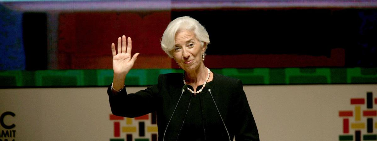 La directrice générale du FMI, Christine Lagarde, le 18 novembre 2016 à Lima (Pérou).