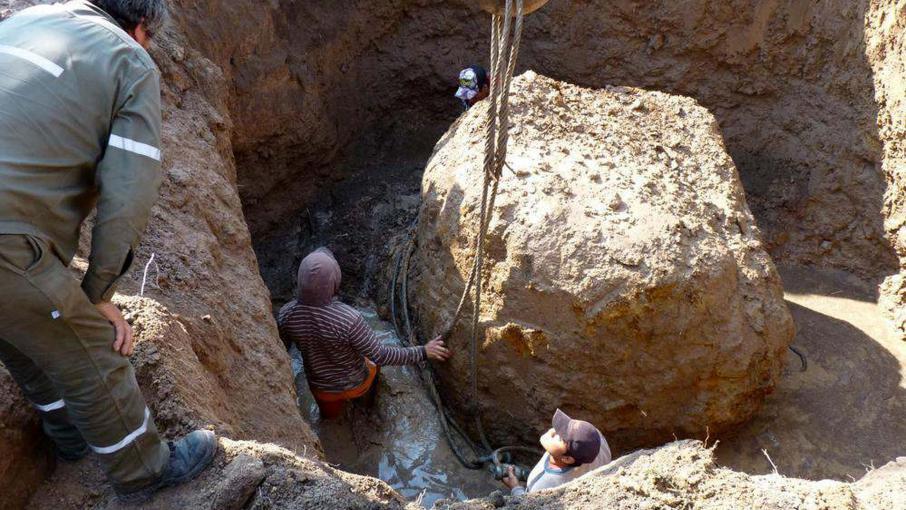 Météorite de plus de 30 tonnes retrouvée dans la province de Chaco en Argentine le 11 septembre 2016.
