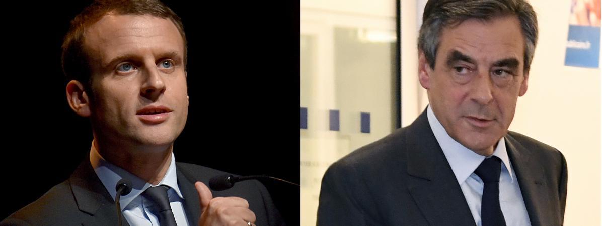 Emmanuel Macron et François Fillon (montage).