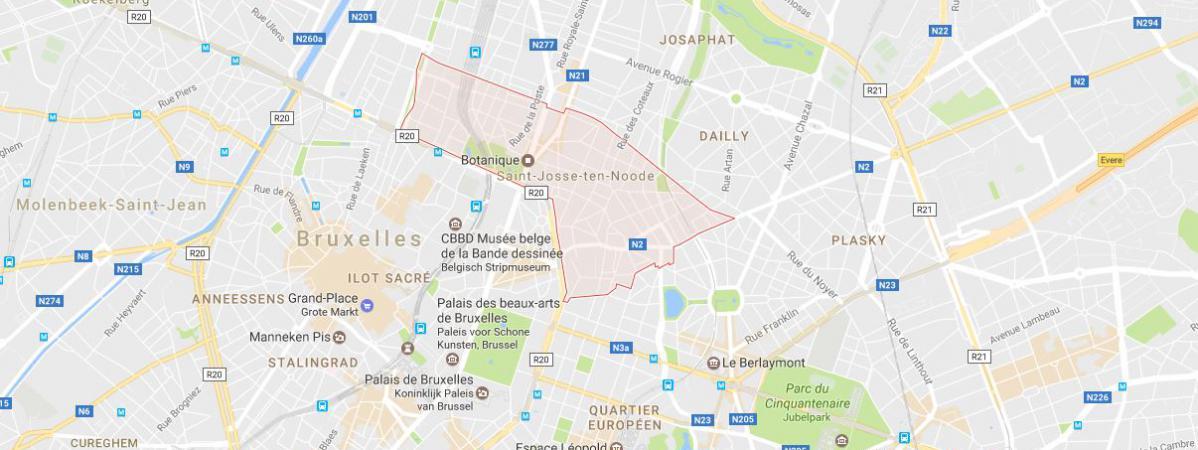 Les faits se sont déroulés dans la commune de Saint-Josse-ten-Noode, l\'une des communes de la région de Bruxelles, en Belgique.