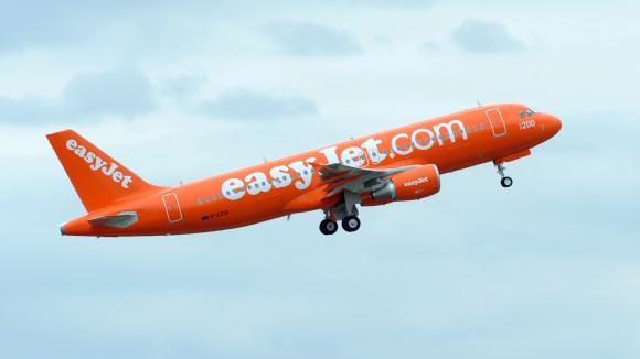 Un Airbus A320 de la compagnie aérienne low-cost easyJet, le 26 mai 2011 à Toulouse (Haute-Garonne).