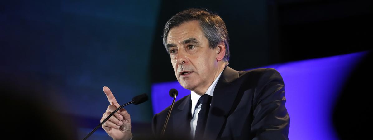 François Fillon lors d\'un meeting à Maison-Alfort (Val-de-Marne), le 24 février 2017.