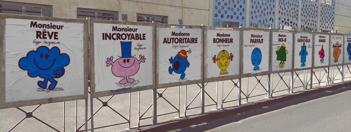 L\'installation du street-artiste EFIX à Montpellier en avril 2017.