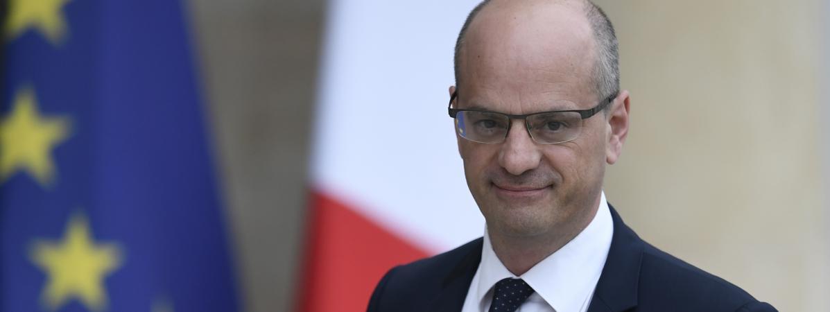 Le nouveau ministre de l\'Education nationale, Jean-Michel Blanquer, à l\'Elysée, le 18 mai 2017.