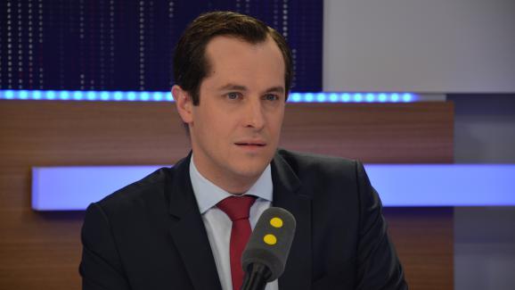 Nicolas Bay, secrétaire général du Front national, directeur de la campagne FN des législatives.