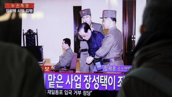 Le procès de Jang Song-taek, l\'oncle de Kim Jong-un, a été retransmis à la télévision nord-coréenne le 12 décembre 2013, juste avant son exécution.