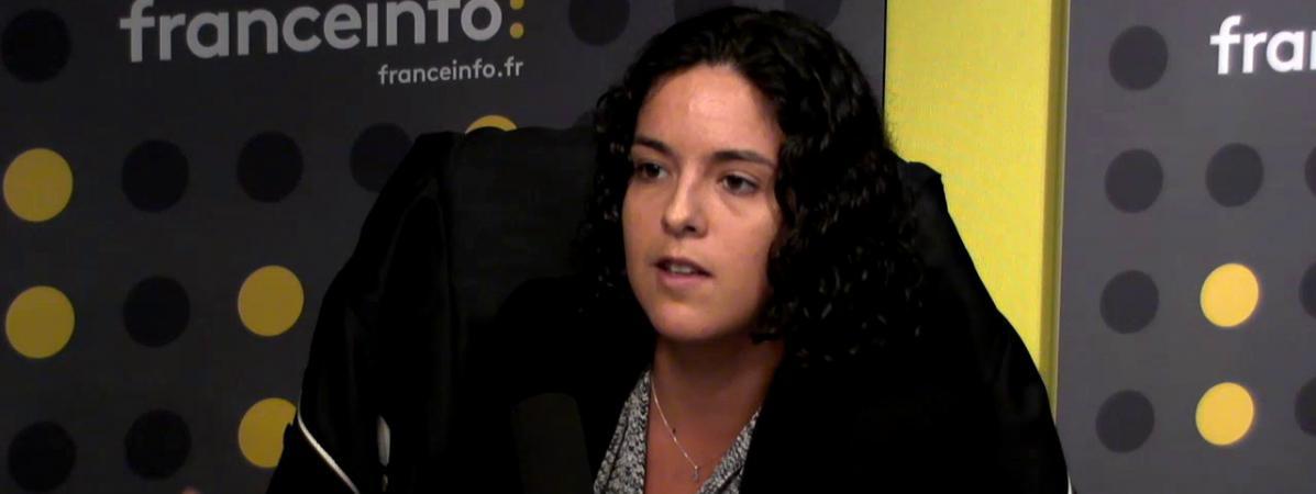 Manon Aubry,porte-parole d\'Oxfam, le 25 septembre 2017.