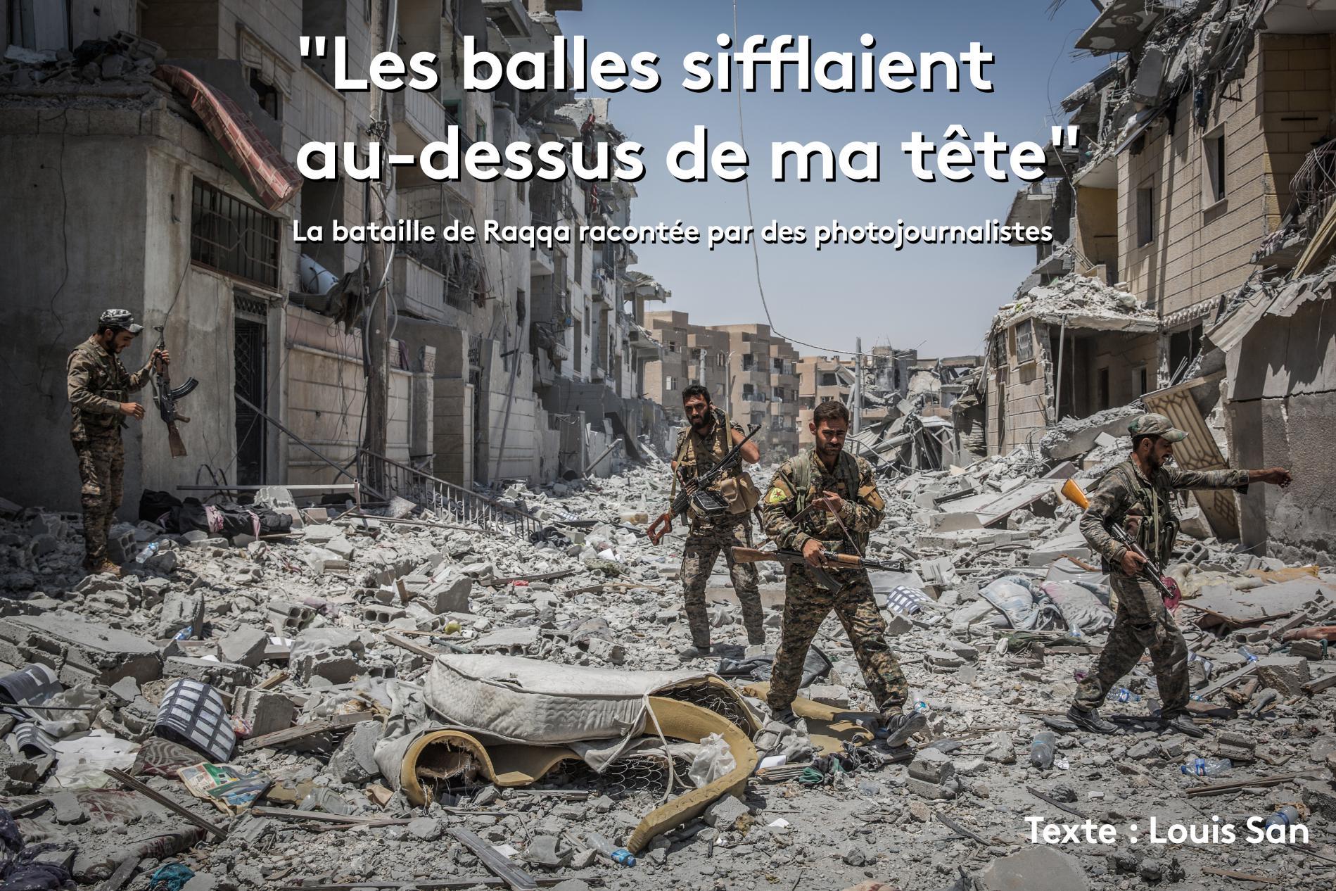 Des combattants des Forces démocratiques syriennes dans le quartier Al-Dariya de Raqqa (Syrie), le 24 juillet 2017.