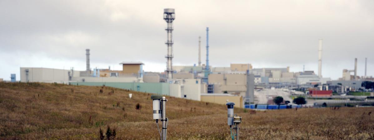 Le site Areva de La Hague, centre de recyclage industriel de combustibles nucléaires, dans la Manche.