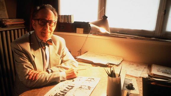 Morris dans son bureau bruxellois, le 21 mars 1995.