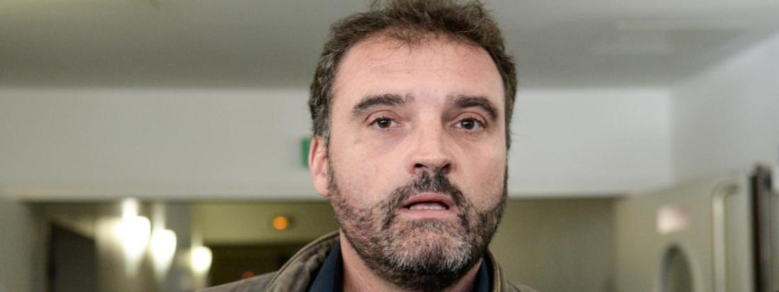 Frédéric Péchier, le 29 mars 2017, au tribunal de Besançon (Doubs).