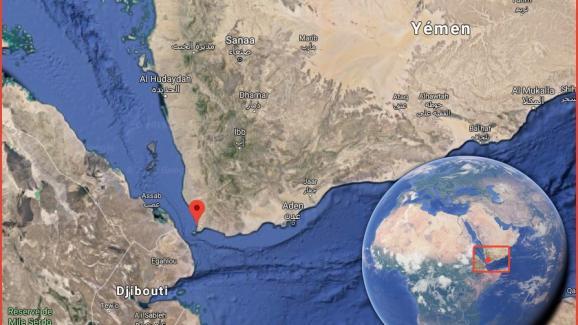 La scène a pu être localisée à l\'ouest du Yémen, au sud du port d'Hodeïda.