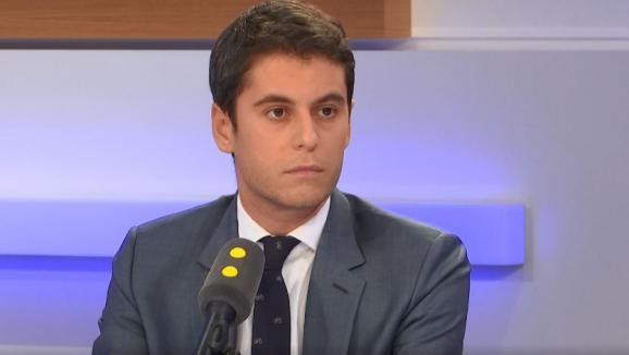 Gabriel Attal, secrétaire d\'État auprès du ministre de l\'Éducation nationale sur franceinfo.