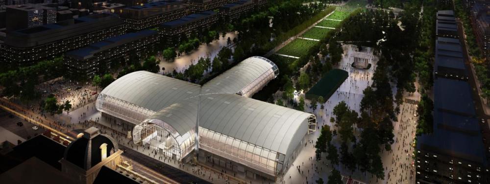 Le Grand Palais éphémèreabritera en 2024 les compétitions de judo et de lutte des Jeux Olympiques.