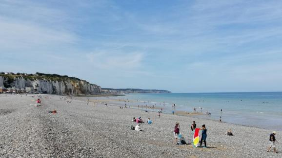 Pebble beach in Dieppe.
