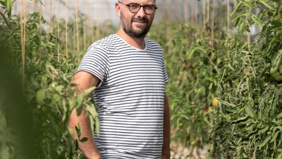 Arnaud Darsonval, co-director of the Ferme de Sainte-Marthe.