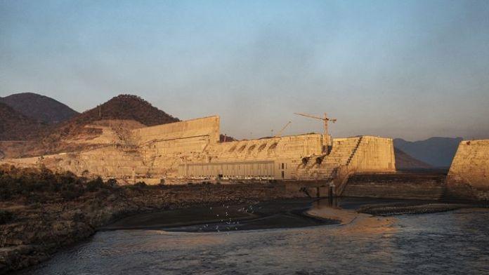 The Renaissance Dam in Ethiopia during its construction in December 2019 (EDUARDO SOTERAS / AFP)